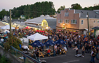 """Biketemberfest brought the crowds to take in the """"block party"""" at Weirs Beach Saturday night.  (Karen Bobotas/for the Laconia Daily Sun)"""
