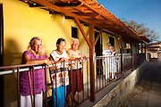 Sabara_MG, Brasil...Senhoras na varanda do Lar do Idoso Jose Vercosa Junior em Sabara, Minas Gerais...Elderly ladies on the porch of Home for the Elderly Jose Junior Vercosa in Sabara, Minas Gerais...Foto: LEO DRUMOND / NITRO