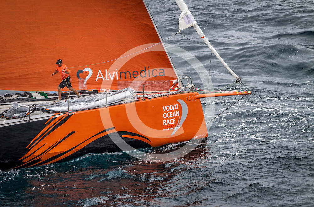 October 11, 2014.  Start of Leg 1 from Alicante, Spain, to Cape Town, South Africa.