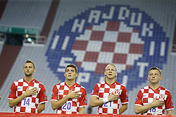 12.06.2015, Stadion Poljud, Split, CRO, UEFA Euro 2016 Qualifikation, Kroatien vs Italien, Gruppe H, im Bild Marcelo Brozovic, Mateo Kovacic, Domagoj Vida, Ivica Olic // during the UEFA EURO 2016 qualifier group H match between Croatia and and Italy at the Stadion Poljud in Split, Croatia on 2015/06/12. EXPA Pictures © 2015, PhotoCredit: EXPA/ Pixsell/ Igor Kralj<br /> <br /> *****ATTENTION - for AUT, SLO, SUI, SWE, ITA, FRA only*****