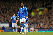 Everton forward Romelu Lukaku   during the Barclays Premier League match between Everton and Swansea City at Goodison Park, Liverpool, England on 24 January 2016. Photo by Simon Davies.