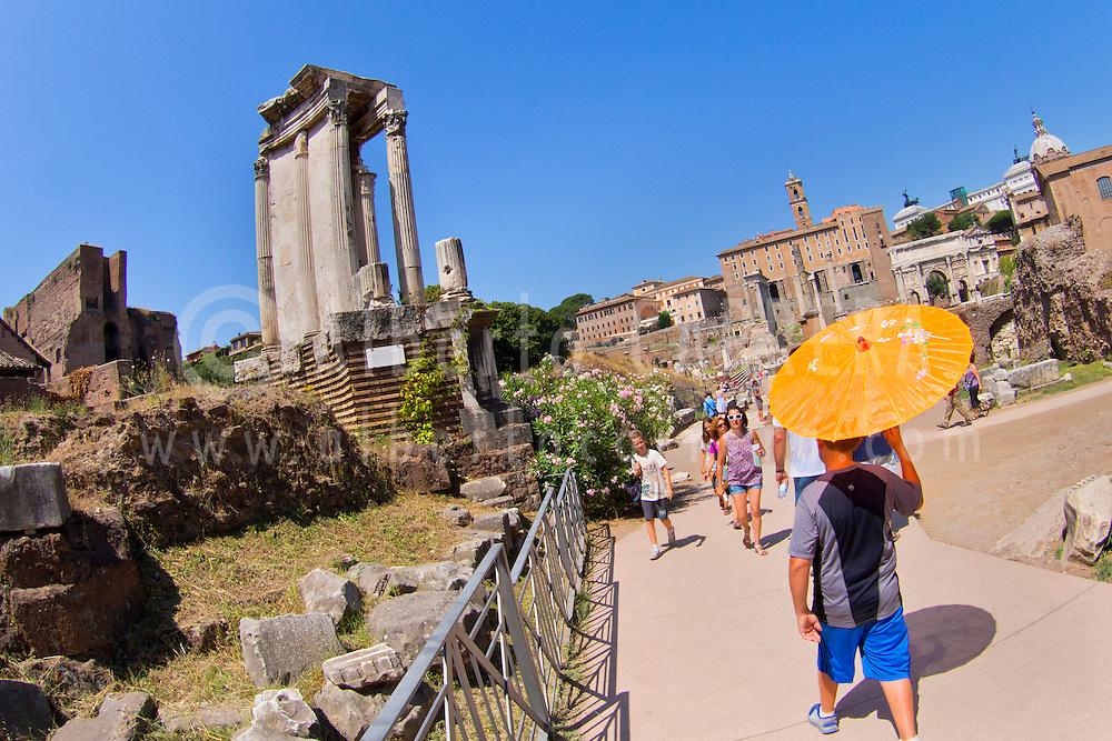 Alberto Carrera, Roman Forum, Foro Romano, World Heritage Site, Rome, Lazio, Italy, Europe