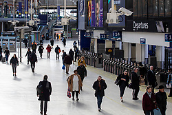 © Licensed to London News Pictures. 23/03/2020. London, UK. At 08:35am passenger numbers are low at London's Waterloo Station as the Coronavirus continues to spread in London. Photo credit: Rob Pinney/LNP