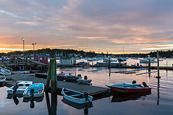 Dawn at the Vinalhaven Fishermen's Co-op in Vinalhaven, Maine.