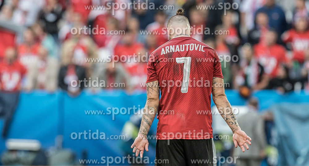 14.06.2016, Stade de Bordeaux, Bordeaux, FRA, UEFA Euro, Frankreich, Oesterreich vs Ungarn, Gruppe F, im Bild Marko Arnautovic (AUT) // Marko Arnautovic (AUT) during Group F match between Austria and Hungary of the UEFA EURO 2016 France at the Stade de Bordeaux in Bordeaux, France on 2016/06/14. EXPA Pictures © 2016, PhotoCredit: EXPA/ JFK