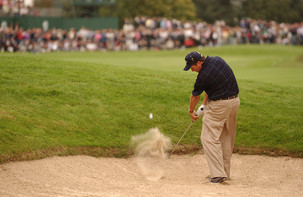 Sutton Coldfield, UK..2002 Ryder Cup..09/27/02, Saturday  Afternoon Fourball Matches..Photograph