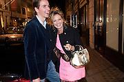 ALEX WATZDORF; MAYA VON SCHONBURG, LANVIN PARTY. Savile Row. London. 11 November 2009.