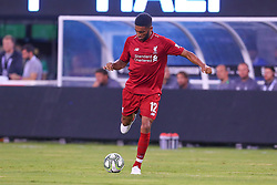 July 25, 2018 - East Rutherford, NJ, U.S. - EAST RUTHERFORD, NJ - JULY 25:  Liverpool defender Joe Gomez (12) during the first half of the International Champions Cup Soccer game between Liverpool and Manchester City on July 25, 2018 at Met Life Stadium in East Rutherford, NJ.  (Photo by Rich Graessle/Icon Sportswire) (Credit Image: © Rich Graessle/Icon SMI via ZUMA Press)