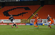 Cedwyn Scott of Dundee fires home the opening goal  - Dundee United v Dundee, SPFL Under 20 Development League at Tannadice Park, Dundee<br /> <br />  - &copy; David Young - www.davidyoungphoto.co.uk - email: davidyoungphoto@gmail.com