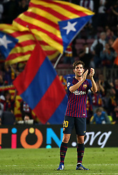 October 24, 2018 - Barcelona, Spain - Sergi Roberto during the match between FC Barcelona and Inter, corresponding to the week 3 of the group stage of the UEFA Champions Leage, played at the Camp Nou Stadium, on 24th October 2018, in Barcelona, Spain. (Credit Image: © Joan Valls/NurPhoto via ZUMA Press)