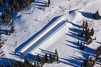 Riding the half pipe at Brighton Ski Resort