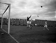 31/08/1955<br /> 08/31/1955<br /> 31 August 1955<br /> Soccer: Waterford F.C. v Shamrock Rovers, Dublin  City Cup Semi Final at Dalymount Park.