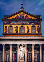 """St. Paul's in front of the Papal Basilica St. Paul Outside the Walls""…<br />