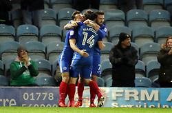 Jack Marriott of Peterborough United celebrates scoring his goal with team-mates - Mandatory by-line: Joe Dent/JMP - 21/11/2017 - FOOTBALL - ABAX Stadium - Peterborough, England - Peterborough United v Portsmouth - Sky Bet League One