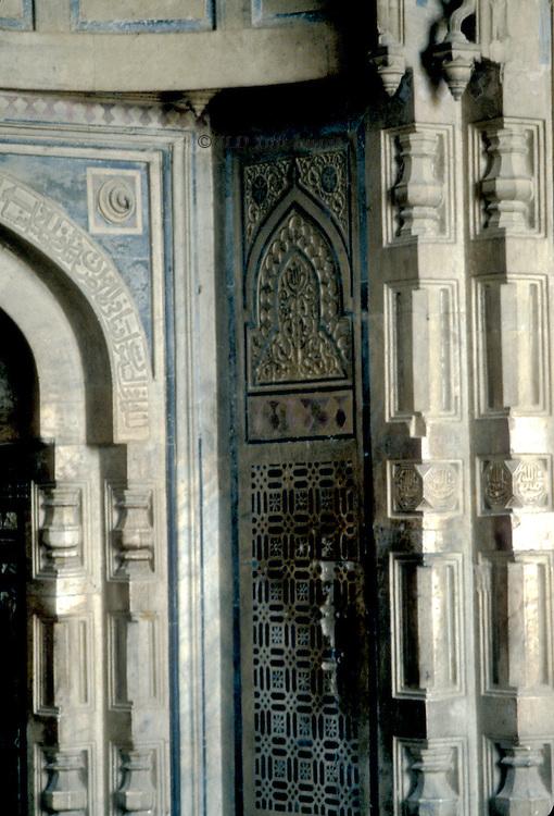 Door jamb of Qala i Kuhna Mascid, Purana Qila, Delhi.