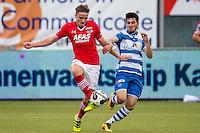 ZWOLLE - 18-09-2016, PEC Zwolle - AZ, MAC3park Stadion, 0-2, AZ speler Ben Rienstra, PEC Zwolle speler Gustavo Hebling de Aguiar