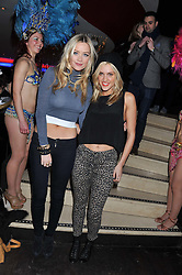 Left to right, LAURA WHITMORE and ASHLEY ROBERTS at a party to celebrate the opening of the Rum Shack, Floridita, 100 Wardour Street, London on 1st February 2013.