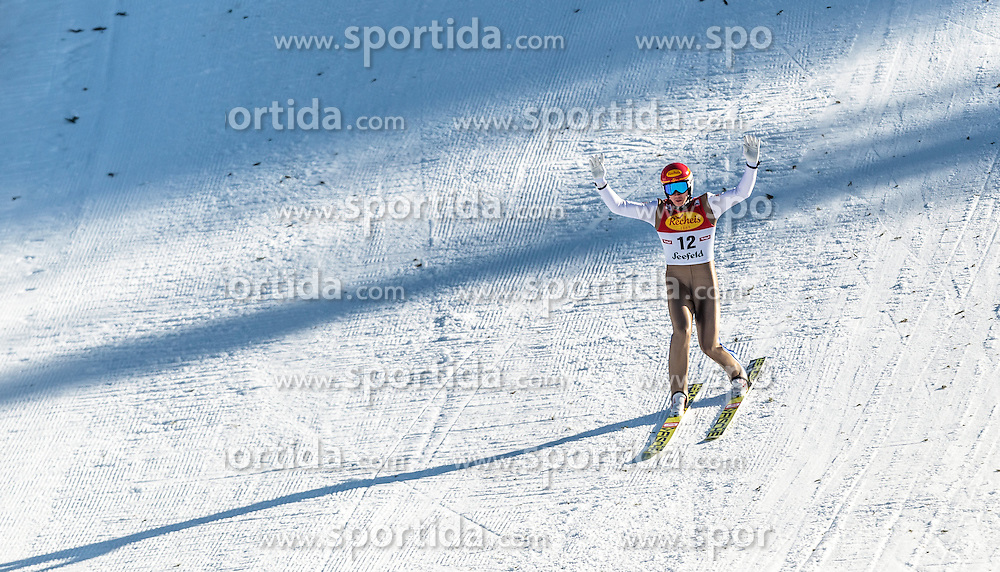 30.01.2016, Casino Arena, Seefeld, AUT, FIS Weltcup Nordische Kombination, Seefeld Triple, Skisprung, Wertungssprung, im Bild Mario Seidl (AUT) // Mario Seidl of Austria competes during his Competition Jump of Skijumping of the FIS Nordic Combined World Cup Seefeld Triple at the Casino Arena in Seefeld, Austria on 2016/01/30. EXPA Pictures © 2016, PhotoCredit: EXPA/ JFK