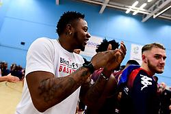 Panos Mayindombe of Bristol Flyers - Photo mandatory by-line: Ryan Hiscott/JMP - 15/11/2019 - BASKETBALL - SGS Wise Arena - Bristol, England - Bristol Flyers v London City Royals - British Basketball League Cup