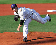 MANHATTAN, KS - APRIL 22:  Starting pitcher Lance Hoge of the Kansas State Wildcats gave up three runs in four innings against the UC Irvine Anteaters on April 22, 2008 at Tointon Stadium in Manhattan, Kansas.  UC Irvine defeated Kansas State 4-3.  (Photo by Peter Aiken/Getty Images)