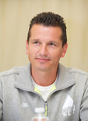 LIVERPOOL, ENGLAND - Thursday, June 16, 2011: Richard Krajicek (NED) at a press conference day one of the Liverpool International Tennis Tournament at Calderstones Park. (Pic by David Rawcliffe/Propaganda)