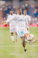 Real Madrid's Marco Asensio during XXXVIII Santiago Bernabeu Trophy at Santiago Bernabeu Stadium in Madrid, Spain August 23, 2017. (ALTERPHOTOS/Borja B.Hojas)