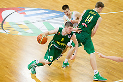 Dovydas Redikas of Lithuania during basketball match between National teams of Slovenia and Lithuania in First Round of U20 Men European Championship Slovenia 2012, on July 14, 2012 in Domzale, Slovenia. Slovenia defeated Lithuania 87-81. (Photo by Vid Ponikvar / Sportida.com)