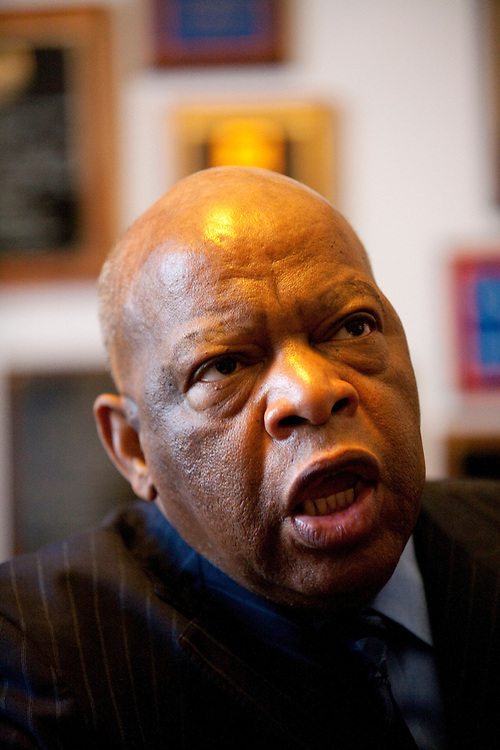 Rep. John Lewis (D-GA) sits for an interview in his office on Capitol Hill on Tuesday, Apr. 21, 2009 in Washington, DC.
