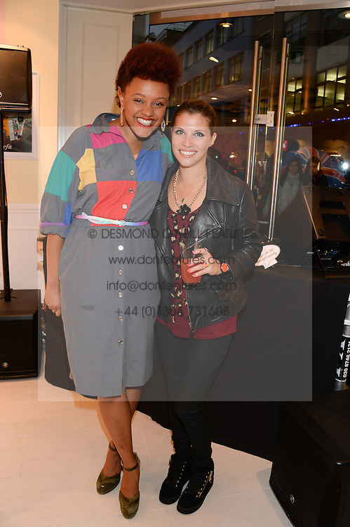 Left to right, GEMMA CAIRNEY and TV presenter PIPS TAYLOR at the launch of the Benefit Global Flagship Boutique at 10 Carnaby Street, London on 11th September 2013.