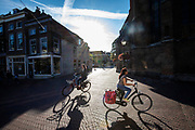 Fietsers in Delft.<br /> <br /> Cyclists in Delft