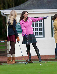 Miss Scotland Jennifer Reochs..Pic © Michael Schofield..The Miss World participants play golf at the world famous Gleneagles Hotel, host of The Ryder Cup 2014..MISS WORLD 2011 VISITS SCOTLAND..Pic © Michael Schofield.