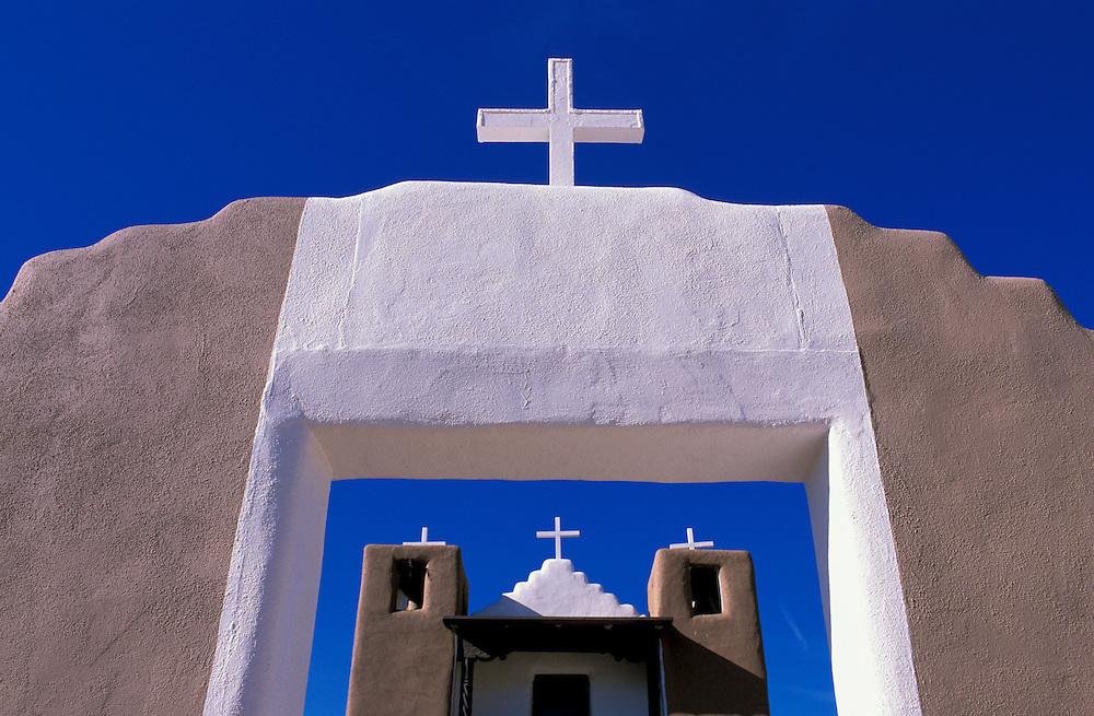 The Church at Taos Pueblo, Taos, New Mexico, USA
