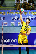 BANGKOK, THAILAND - MARCH 19: NK Fitness of Samut Sakhon #21 reaction during the 2016–17 Men's Volleyball Thailand League Championship, Chantarubeksa Air Force Stadium, Bangkok, Thailand on March 19, 2017.<br /> .<br /> .<br /> .<br /> (Photo by: Naratip Golf Srisupab/SEALs Sports Images)<br /> .<br /> Any image use must include a mandatory credit line adjacent to the content which should read: Naratip Golf Srisupab/SEALs Sports Images
