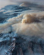 As the Soberanes fire grows, it begins to look resemble a volcanic eruption. When we saw this view, the pilot likened it to Mount Saint Helens. ©2016 Sivani Babu
