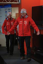 Vesna Fabjan and Marko Gracer at nordic press conference before new season 2008/2009, on November 5, 2008, Ljubljana, Slovenia. (Photo by Vid Ponikvar / Sportida)..