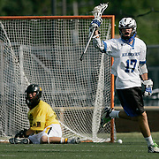 (hslarosse 6-7 carrizo 06/06/09) Worthington Kilbourne's Christian Sorensen, 14, celebrates after scoring against on Upper Arlington to tie the game at 4-4 during  the State lacrosse game championship on Saturday, June 06, 2009 at Upper Arlington High School(Columbus Dispatch Photo by Leonardo Carrizo)