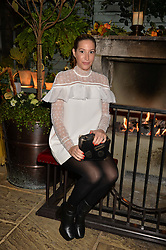 Laura Pradelska at The Ivy Chelsea Garden's Guy Fawkes Party, 197 King's Road, London, England. 05 November 2017.