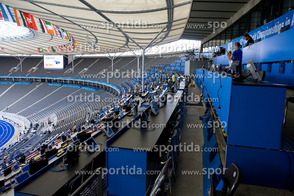 Olympia stadion wit press seats at 12th IAAF World Championships in Athletics Berlin 2009, on August 14, 2009, in Berlin, Germany. (Photo by Vid Ponikvar / Sportida)