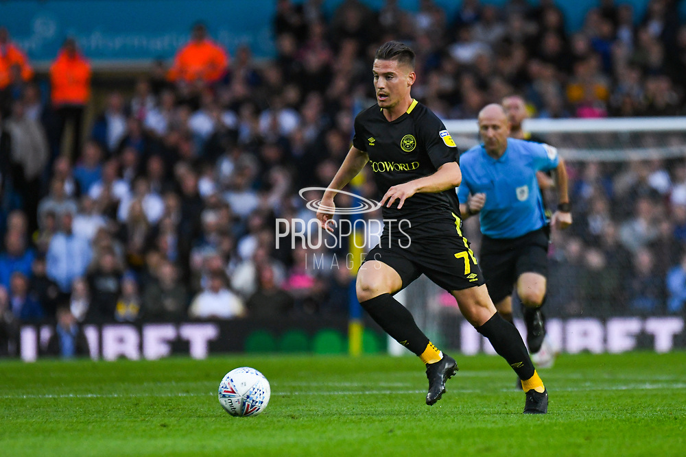 Brentford forward Sergi Canos (7) in action during the EFL Sky Bet Championship match between Leeds United and Brentford at Elland Road, Leeds, England on 21 August 2019.