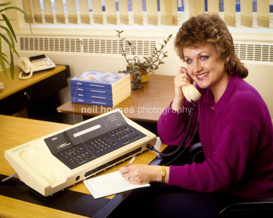 Here's a shot I took around 1985 for the then Hull Corporation Telephone Department, now Kcom. An operator demonstrates the latest Plessy desktop exchange.
