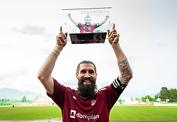 Luka Majcen of Triglav celebrates after the football match between NK Triglav Kranj and NK Domzale in 35th Round of Prva liga Telekom Slovenije 2018/19, on May 22nd, 2019, in Sports park Kranj, Slovenia. Photo by Vid Ponikvar / Sportida