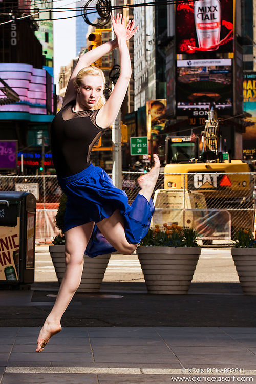 Times Square New York City Dance As Art Photography Project with dancer Alyssa Ness