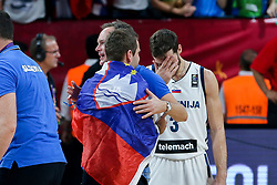 Goran Dragic of Slovenia celebrating after winning during the Final basketball match between National Teams  Slovenia and Serbia at Day 18 of the FIBA EuroBasket 2017 at Sinan Erdem Dome in Istanbul, Turkey on September 17, 2017. Photo by Vid Ponikvar / Sportida