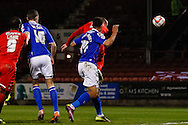 Scott Cuthbert of Leyton Orient scores the opening goal during the Sky Bet League 1 match at the Matchroom Stadium, London<br /> Picture by David Horn/Focus Images Ltd +44 7545 970036<br /> 25/03/2014