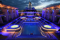 Celebrity Reflection departs on its preview sailing out of The Netherlands before beginning its European inaugural sailing on 12th October 2012 from Amsterdam..Pool deck.