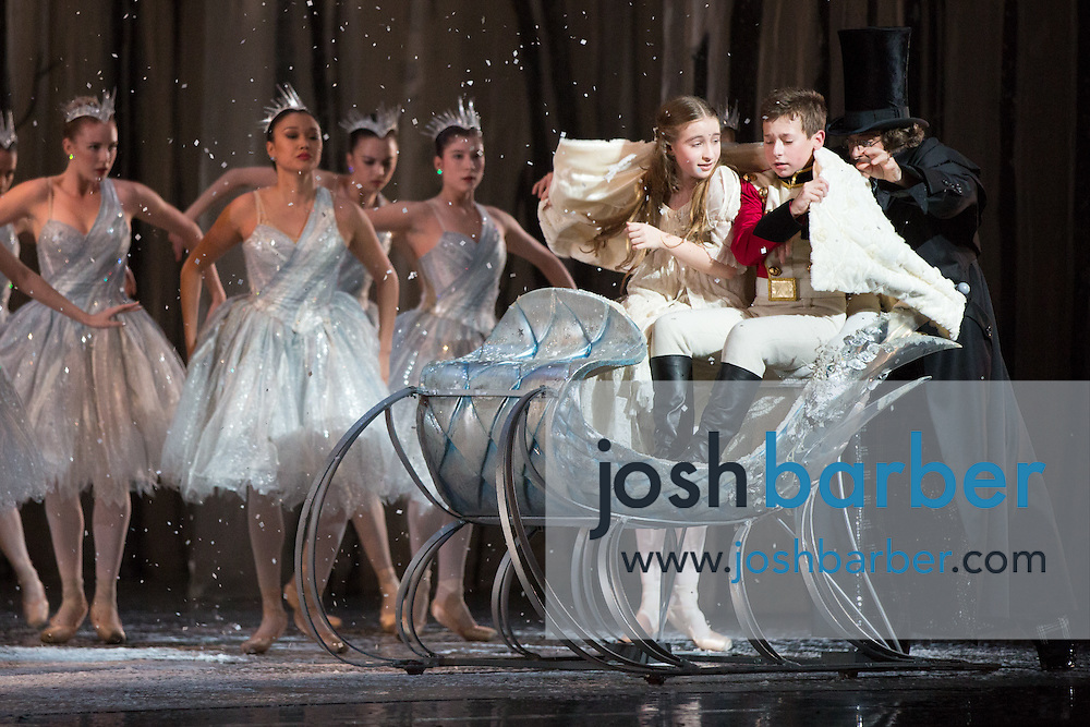 "Seth Koffler, Claudia Schuman during American Ballet Theatre's performance of ""The Nutcracker"" at Segerstrom Center for the Arts on Thursday, December 10, 2015 in Costa Mesa, California. (Photo/Josh Barber)"