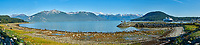 Haines Beach and Harbor Panorama. Composite of 11 images taken with a Nikon D300 camera and 18-200 mm VR lens (ISO 400, 34 mm, f/11, 1/500 sec). Raw images processed with Capture One Pro. Composite panorama created using AutoPano Giga.