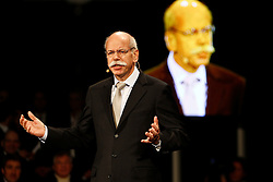 STUTTGART, GERMANY - Monday, January 25, 2010: Dr. Dieter Zetsche (Chairman of the Board of Management of Daimler AG, Head of Mercedes-Benz Cars) during the Mercedes GP Petronas Formula One Team presentation at the Mercedes-Benz Museum. (Pic by Juergen Tap/Hoch Zwei/Propaganda)
