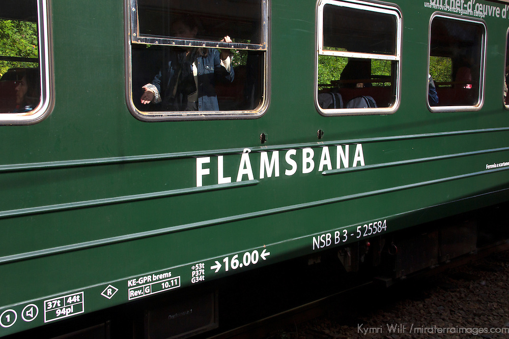 Europe, Norway, Flam. Flamsbana Flam Line Railway.
