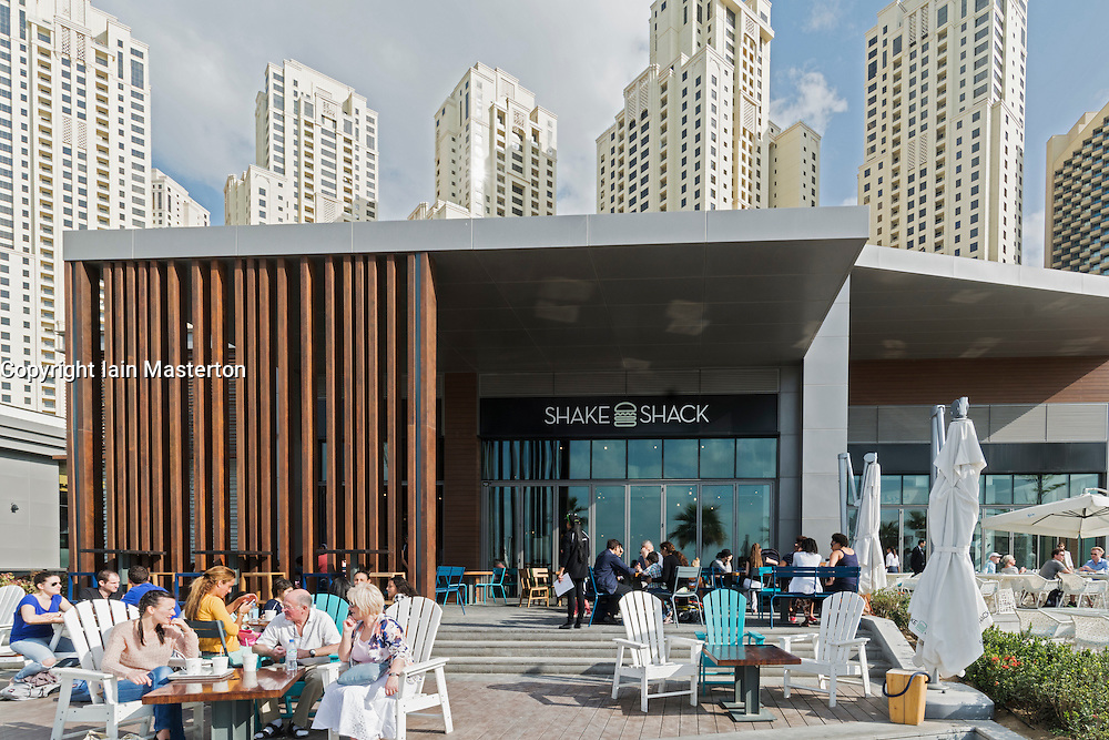 Shake Shack restaurant et The Beach in Jumeirah Beach Residence (JBR )Dubai UAE
